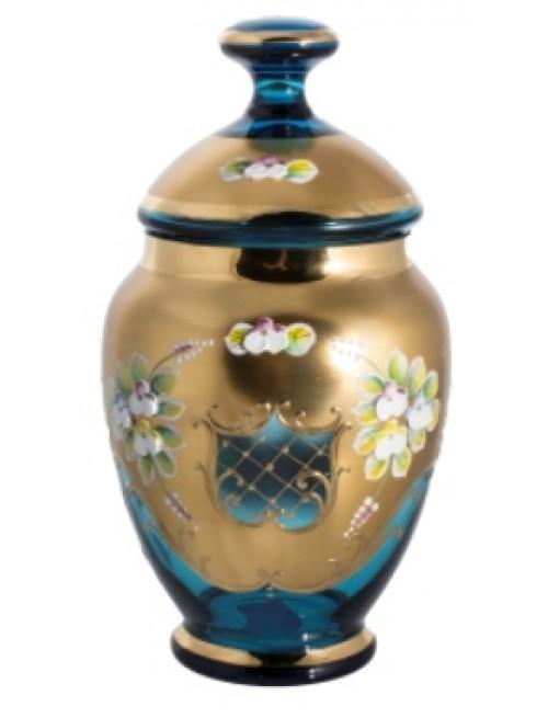Bomboniera Złoto, kolor turkusowy, wysokość 200 mm
