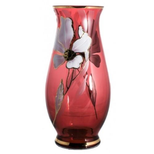 Wazon Kwiat, kolor rubinowy, wysokość 300 mm
