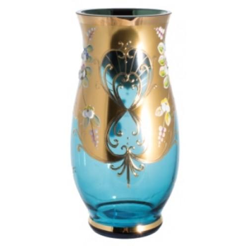 Wazon Złoto, kolor turkusowy, wysokość 300 mm