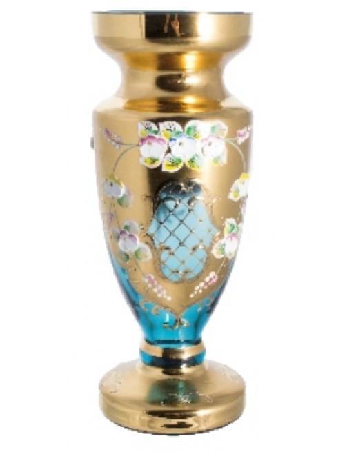 Wazon Złoto, kolor turkusowy, wysokość 210 mm