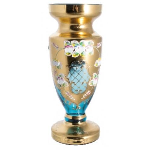 Wazon Złoto, kolor turkusowy, wysokość 400 mm