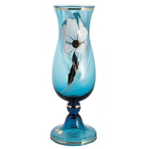 Wazon Kwiat, kolor turkusowy, wysokość 410 mm