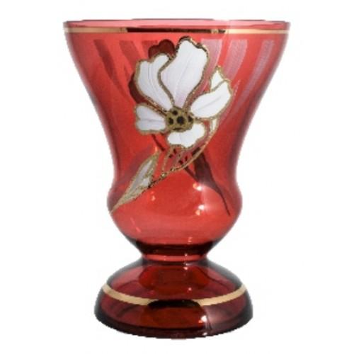 Wazon Kwiat, kolor rubinowy, wysokość 205 mm