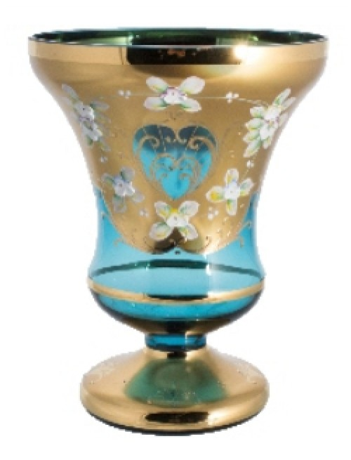 Wazon Złoto, kolor turkusowy, wysokość 310 mm