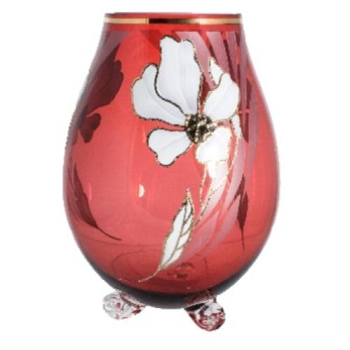 Wazon Kwiat, kolor rubinowy, wysokość 260 mm
