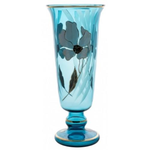 Wazon Kwiat, kolor turkusowy, wysokość 400 mm