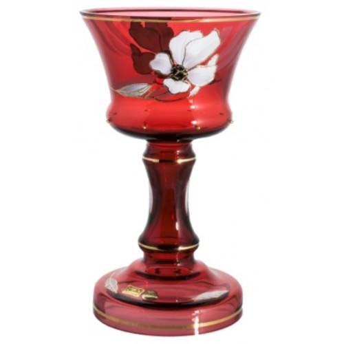 Wazon Kwiat, kolor rubinowy, wysokość 310 mm