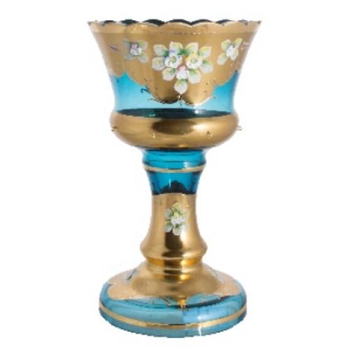 Wazon złoto, kolor turkusowy, wysokość, výška 260 mm