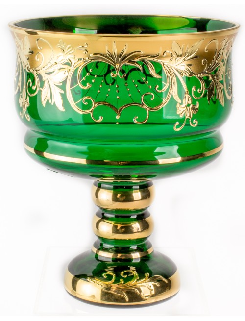 Patera Bell Złoto, kolor zielony, średnica 170 mm