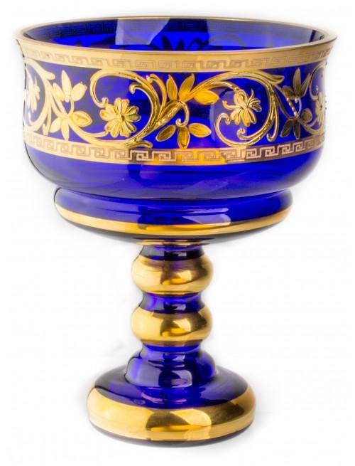 Patera Bird Złoto, kolor niebieski, średnica 150 mm