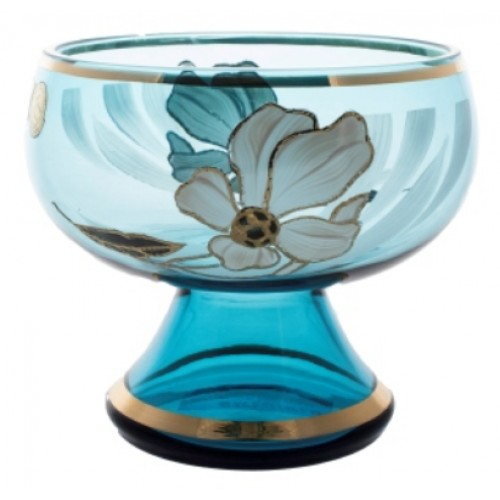 Patera Kwiat, kolor turkusowy, średnica 205 mm