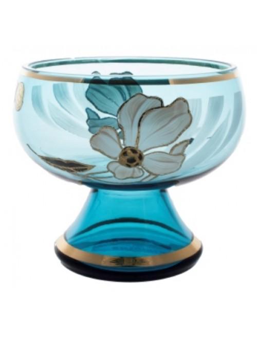 Patera Kwiat, kolor turkusowy, średnica 250 mm