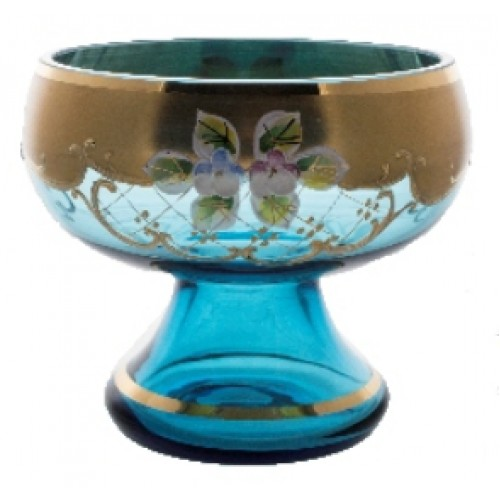 Patera Złoto, kolor turkusowy, średnica 205 mm