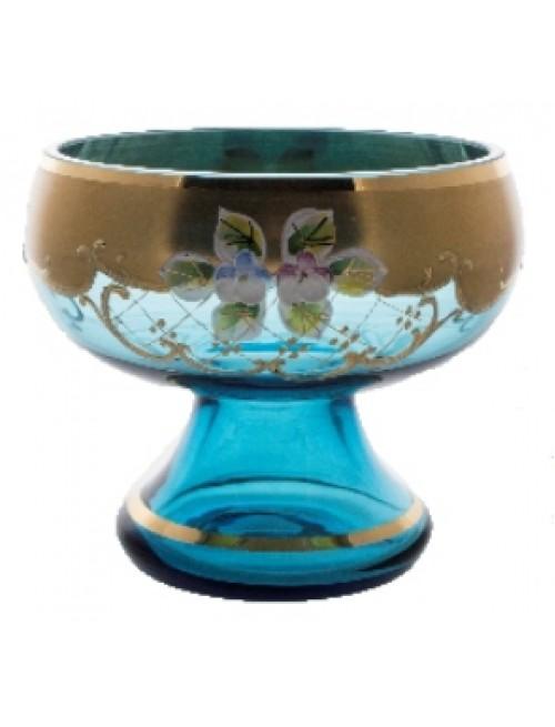Patera Złoto, kolor turkusowy, średnica 255 mm
