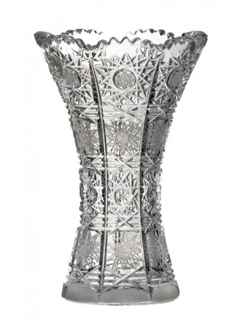 Wazon 500PK I, szkło kryształowe bezbarwne, wysokość 205 mm