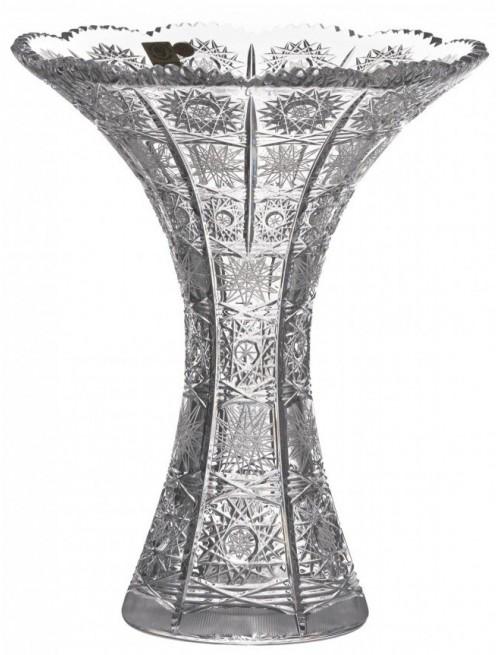 Wazon 500PK, szkło kryształowe bezbarwne, wysokość 250 mm