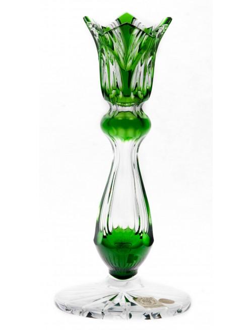 Świecznik Lotos, kolor zielony, wysokość 175 mm