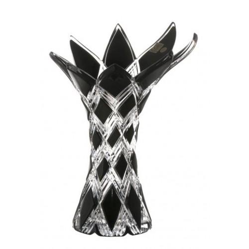 Wazon Harlequin, kolor czarny, wysokość 270 mm