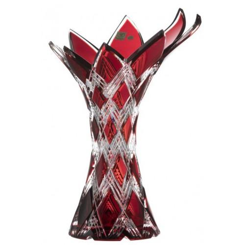 Wazon Harlequin, kolor rubinowy, wysokość 270 mm