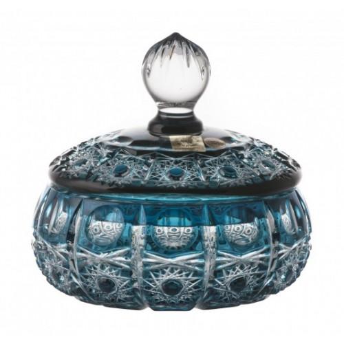 Pojemnik Petra, kolor turkusowy, wysokość 128 mm