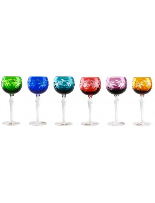 Zestaw kieliszków do wina Winogrona, różne kolory, objętość 190 ml