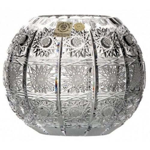 Wazon 500PK, szkło kryształowe bezbarwne, wysokość 132 mm