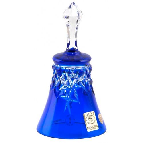 Dzwonek New Milenium, kolor niebieski, wysokość 126 mm