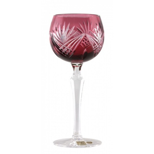 Kieliszek do wina Janette, kolor rubinowy, objętość 190 ml