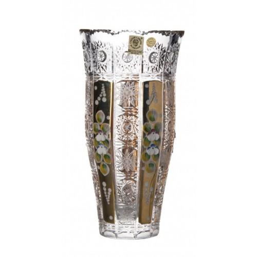 Wazon 500K Złoto III, szkło kryształowe bezbarwne, wysokość 205 mm