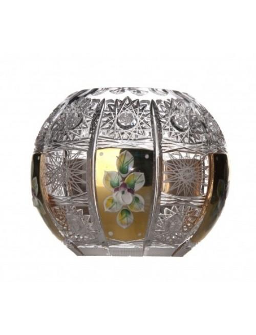 Wazon 500K Złoto, szkło kryształowe bezbarwne, wysokość 132 mm