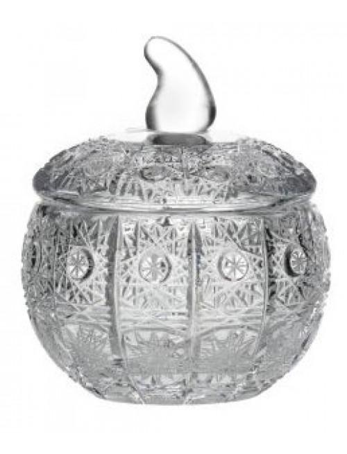 Bomboniera 500PK, szkło kryształowe bezbarwne, wysokość 100 mm