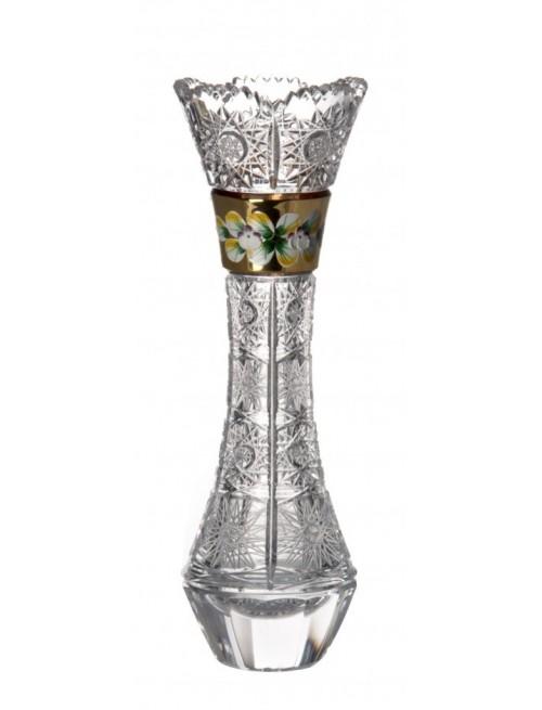 Wazon 500K Złoto, szkło kryształowe bezbarwne, wysokość 280 mm