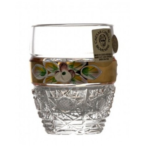 Likierówka 500K Złoto I, szkło kryształowe bezbarwne, objętość 50 ml