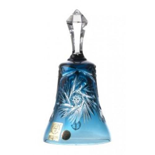 Dzwonek Wiatraczek, kolor turkusowy, vysokość 155 mm