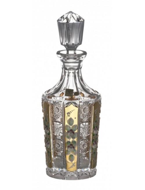Butelka 500PK Złoto, szkło kryształowe bezbarwne, objętość 750 ml