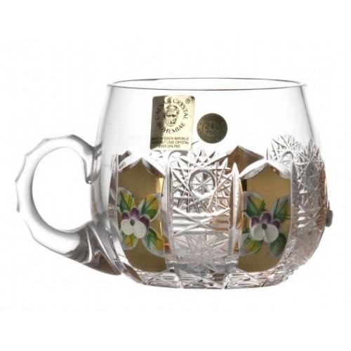 Kubek 500K Złoto, szkło kryształowe bezbarwne, objętość 160 ml
