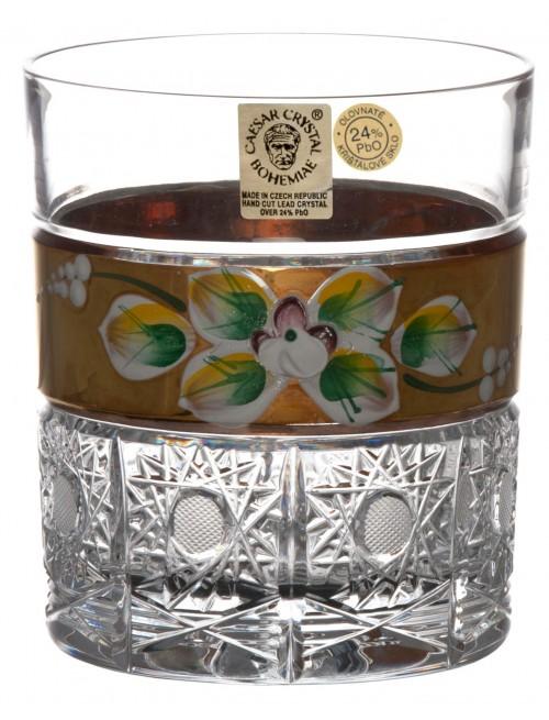 Szklanka 500K Złoto, szkło kryształowe bezbarwne, objętość 320 ml