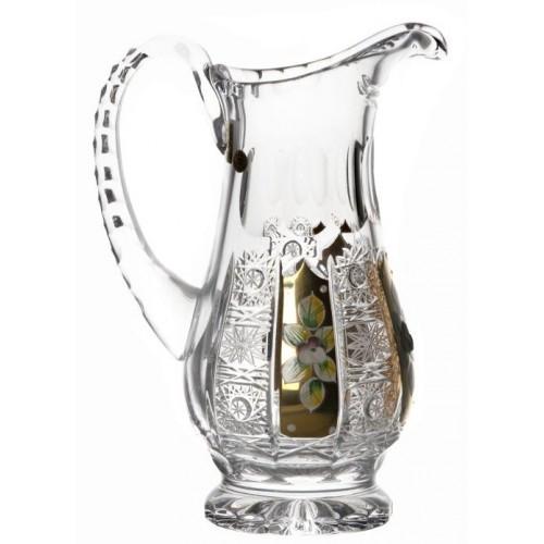 Dzbanek 500PK złoto, szkło krystałowe bezbarwne, objętość 550 ml