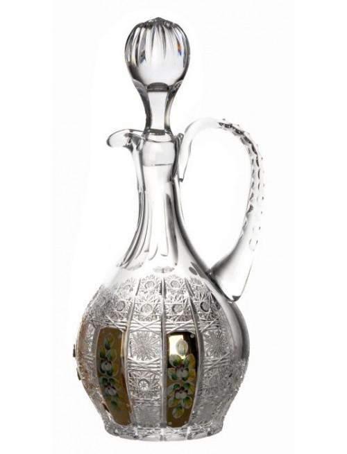 Karafka 500K złoto, szkło kryształowe bezbarwne, objętość 1250 ml