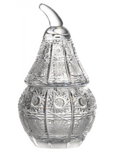 Bomboniera 500PK, szkło kryształowe bezbarwne, wysokość 140 mm