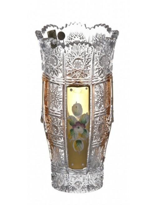 Wazon 500K Złoto II, szkło kryształowe bezbarwne, wysokość 180 mm