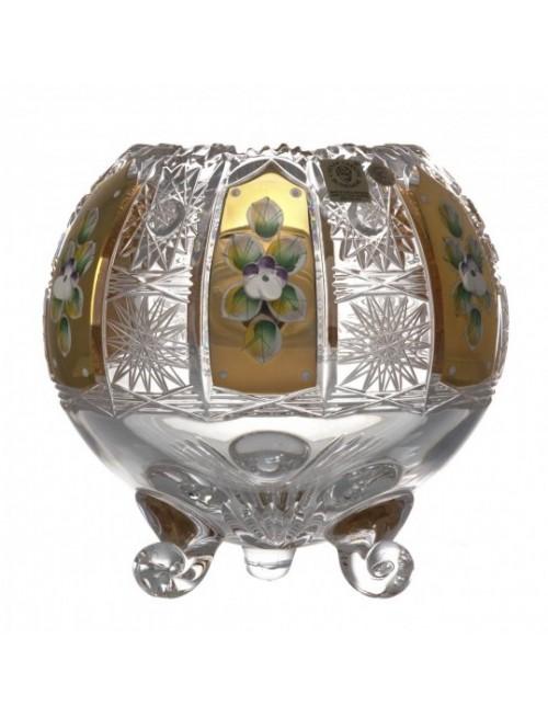 Wazon 500K Złoto I, szkło kryształowe bezbarwne, wysokość 150 mm