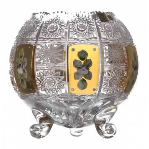 Wazon 500K Złoto, szkło kryształowe bezbarwne, wysokość 175 mm