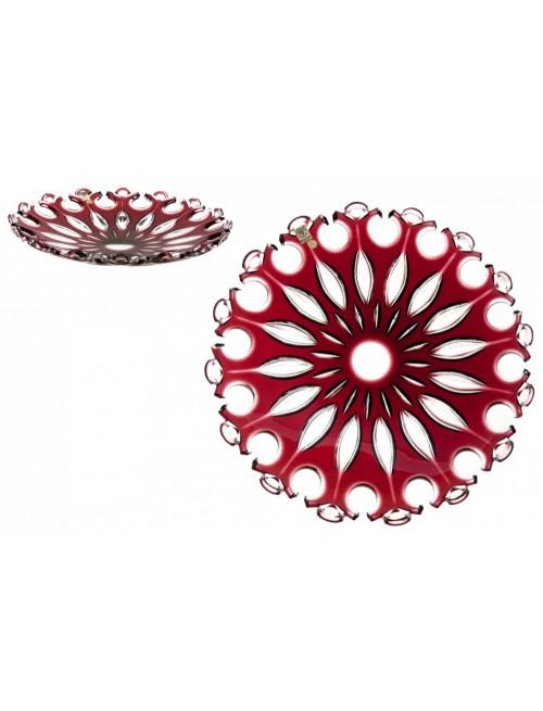 Talerz Flamenco, kolor rubinowy, średnica 350 mm