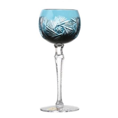 Kieliszek do wina Wiatraczek, kolor turkusowy, objętość 170 ml