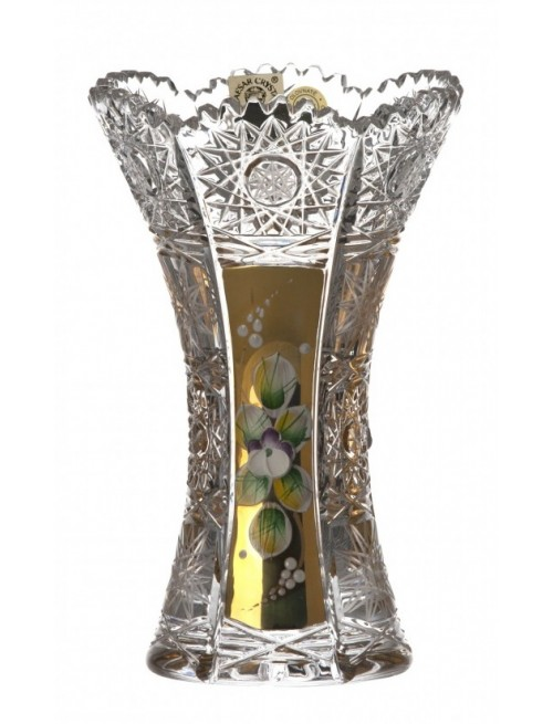 Wazon 500K Złoto, szkło kryształowe bezbarwne, wysokość 155 mm