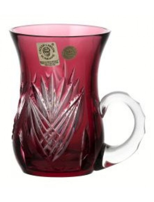 Kubek Janette, kolor rubinowy, objętość 100 ml