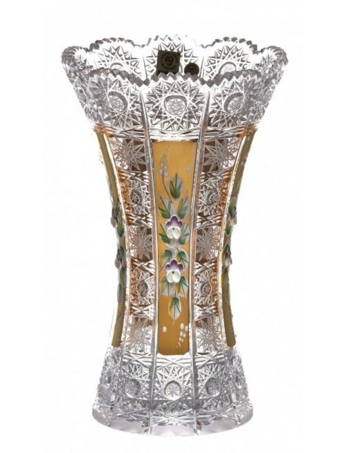 Wazon 500K Złoto, szkło kryształowe bezbarwne, wysokość 230 mm