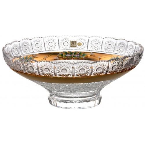 Półmisek 500K Złoto, szkło kryształowe bezbarwne, średnica 355 mm