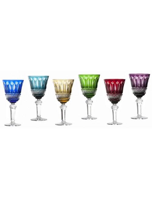 Zestaw kieliszków do wina Tomy, różne kolory, objętość 190 ml